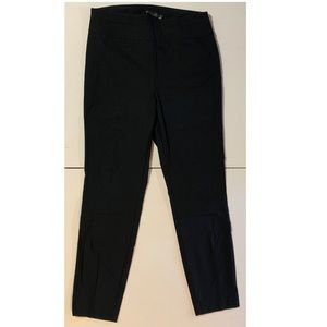 7th ave black pull on slim leg pants